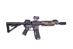 Custom build AR-15 SBR stock photo