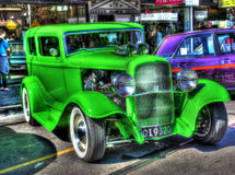 Custom built 1932 green Ford Tudor Royalty Free Stock Images