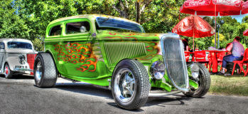 Custom built green Hot rod Royalty Free Stock Image