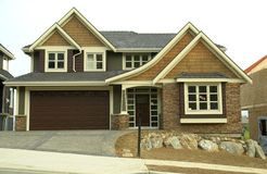 Custom Built Home House Front Royalty Free Stock Photo