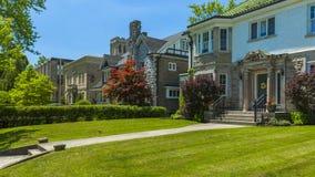 Custom built luxury house in the suburbs of Toronto, Canada. Stock Photos