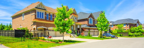 Custom built luxury house in the suburbs of Toronto, Canada. Stock Images
