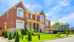Custom built luxury house in the suburbs of Toronto, Canada. Stock Photography