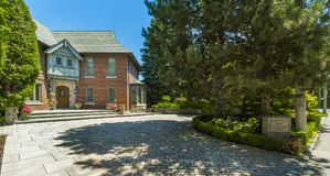Custom built luxury house in the suburbs of Toronto, Canada. Royalty Free Stock Photography