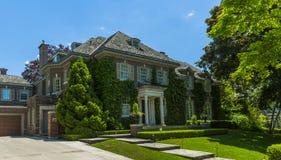 Custom built luxury house in the suburbs of Toronto, Canada. Royalty Free Stock Photo