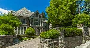 Custom built luxury house in the suburbs of Toronto, Canada. Royalty Free Stock Image