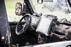 Custom built off-road car interior. Stock Photos