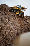 Custom buit Truck in extreme terrain during compet Stock Photo