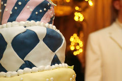 Custom cake. Custom wedding cake stock photography