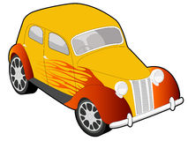 Custom car illustration Royalty Free Stock Photos