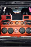 Custom car audio system Royalty Free Stock Images