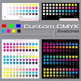 Custom CMYK Swatch Stock Images