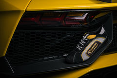 Custom dealership sneakers given to new owners Royalty Free Stock Images