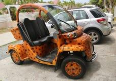 Custom design GEM E2 electrical car at. St Barths. Stock Images