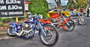 Custom designed American motorbikes Royalty Free Stock Images