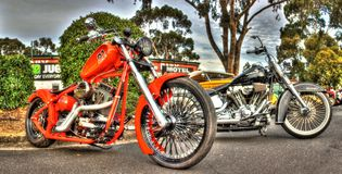 Custom designed American motorcycle Stock Image