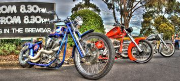 Custom designed choppers Royalty Free Stock Image