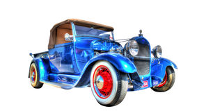 Custom designed Ford hot rod isolated on white background Royalty Free Stock Photo