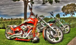 Custom designed motorbikes Royalty Free Stock Images