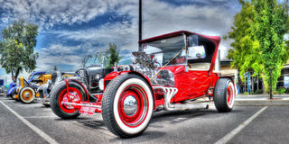Custom designed red hot rod Royalty Free Stock Images
