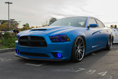 Custom Dodge Charger RT on display Royalty Free Stock Images