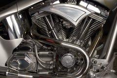 Custom engine. Bike engine V2 in custom bike made in Slovenia Stock Image