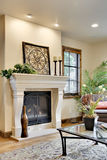 Custom Fireplace in Great Room. In Horizontal Orientation Stock Photos