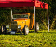 Custom Ford. A custom Ford shot in Fredriksten Fortress in Halden, the car was shot at a car show Stock Image