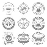 Custom Garage Label and Badges Design. Vector Royalty Free Stock Image