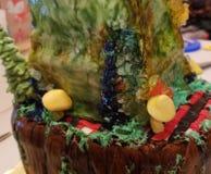 Custom Geo cake. Customers made & x22;geo& x22; cake with false gems royalty free stock image