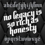 Custom Gothic Font Stock Images