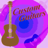 Custom Guitars Shows Music Bespoken And Guitarist. Custom Guitars Meaning Tailor Made And Tailored Stock Photo