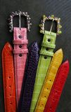 Custom handcrafted belts. And buckles Stock Photo