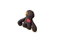 Custom handcrafted stuffed leather toy octopus - right Stock Photos