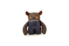 Custom handcrafted stuffed leather toy - ogre - front Stock Photos