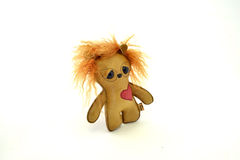 Custom handcrafted stuffed leather toy urchin - left Royalty Free Stock Photos