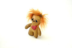 Custom handcrafted stuffed leather toy urchin - right Royalty Free Stock Photos