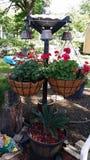 Custom hanging basket stand Stock Image