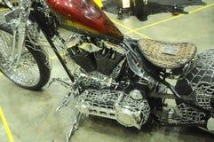 Custom Harley Davidson Motorcycle and engine Stock Photography