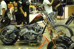 Custom Harley Davidson Motorcycle and engine Royalty Free Stock Photography