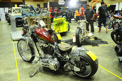 Custom Harley Davidson Motorcycle and engine Royalty Free Stock Image
