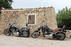 Custom harley motorcycles Stock Image
