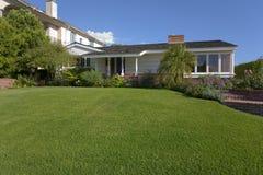 Custom home. Modern home in Newport, CA Royalty Free Stock Image