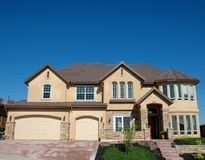 Custom Home. In an exclusive residential neighborhood Stock Photo