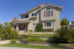 Custom Home In Newport Beach, CA. Exterior shot of a custom home in Newport Beach, CA Royalty Free Stock Photo