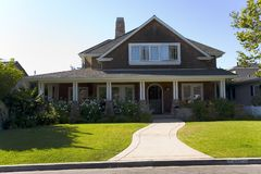 Custom Home In Newport Beach, CA Stock Image
