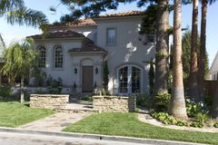 Custom Home In Newport Beach, CA Stock Photo