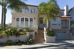 Custom Home In Newport Beach, CA. Exterior shot of a custom home in Newport Beach, CA Stock Photos