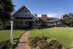 Custom Home In Newport Beach, CA. Exterior shot of a custom home in Newport Beach, CA Stock Images