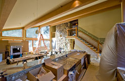 Custom Home Remodeling Stock Photo